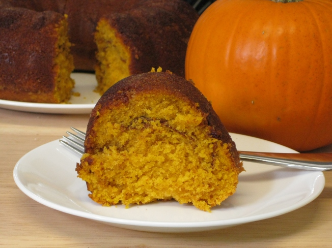 Pumpkin Sour Cream Coffee Cake ~ Erin's DC Kitchen