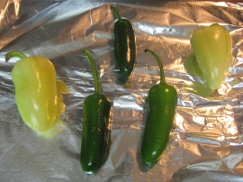 Roasted chilies