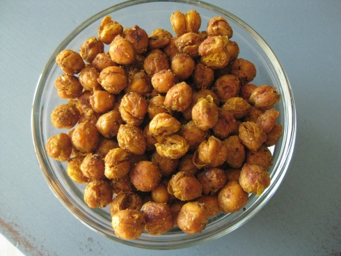 Curry Spiced Chickpea Snack